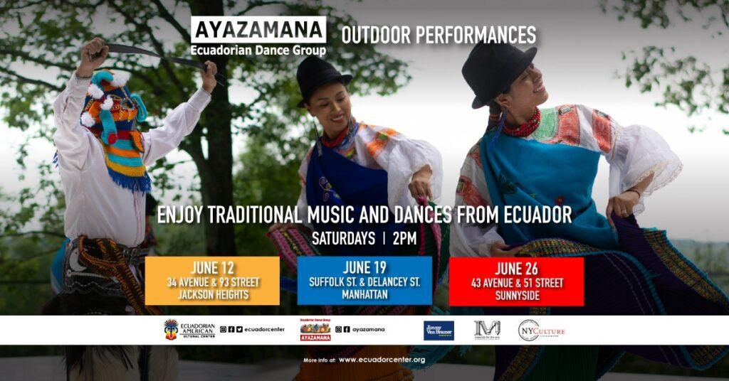 Grupo de Danza Ecuatoriana Ayazamana (Actuaciones al aire libre) Junio 26