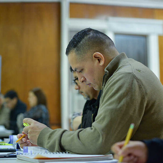 People are taking the GED-TASC exam